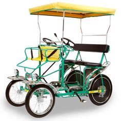 The Five Person Pedal Surrey (Hammacher Schlemmer). WAAAYYY cheaper than a car & more stylish.