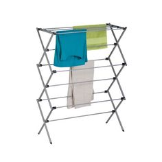 The Honey Can Do Oversize Folding Drying Rack is an accordion-style rack that makes air-drying easy. this steel rack has powder-coated hanging bars. Laundry Room Drying Rack, Laundry Hanger, Clothes Drying Racks, Laundry Room Organization, Laundry Storage, Garage Laundry, Laundry Area, Clothes Storage, Organizing