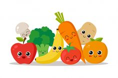 Portfólio de Eva Cornejo Coba no Shutterstock Cute Illustration, Character Illustration, Graphic Design Illustration, Vegetable Cartoon, Cartoon Vegetables, Artsy Background, Fruit Vector, Turtle Painting, Kawaii