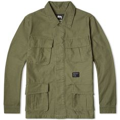 Stussy Solid Field Jacket (Olive)