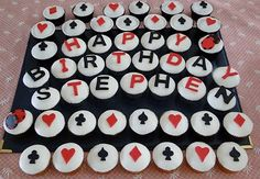Poker cupcakes (ice on the symbols instead of fondant?)
