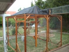 Outside cat run Diy Cat Enclosure, Outdoor Cat Enclosure, Cat Walkway, Outside Cat House, Cat Habitat, Cage, Cat Entertainment, Dog House Bed, Cat Run