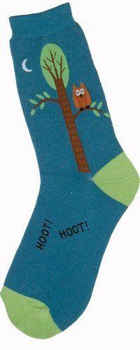 Hot Sox Women/'s Macaws Crew Socks Aqua Novelty Bird Sock shoe size 4-10.5 NEW