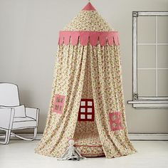 Kids Canopy: Floral Play Circus Tent in Playhomes and Tents