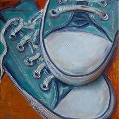 """Chucks"" by Claudia Hansen Color Art Lessons, Candy Art, Sneaker Art, A Level Art, Soul Art, Still Life Art, Gcse Art, Painted Shoes, Watercolor Illustration"