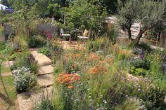 'Four Corners' double award winning garden at the RHS Hampton Court Flower Show Hampton Court Flower Show, Rhs Hampton Court, Ancient Persian, Garden Show, Four Corners, Garden Structures, Designer, Garden Design, Planters