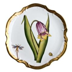 Bouquet of Flowers Bread & Butter Plate by Anna Weatherley