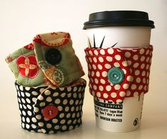 Coffee Cup Cozies: Free Pattern