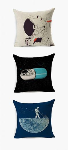 50 Space-Themed Home Decor Accessories To Satiate Your Inner Astronomy Geek Baby Room Decor, Home Decor Bedroom, Bedroom Ideas, Throw Pillow Cases, Decorative Throw Pillows, Home Decor Accessories, Decorative Accessories, Deco Ballon, Girls Bedroom Furniture