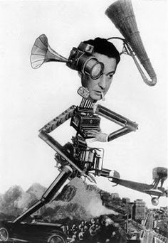 Otto Umbehr, The Roving Reporter, photomontage, 1926