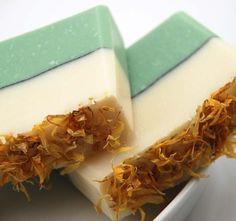 Prettiest Soap Ever! Green Tea Soap via Blushie Etsy shop