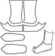 shoes Schuhe zapatos Traditional Mongol Boot/Gutal (Speculative) I have no solid source for this des Sew In Braid Pattern, Braid Patterns, Hanfu, Sew In Lace Closure, Images Of Braids, Sew In Braids, Sew In Hairstyles, Sew In Weave, Shoe Pattern