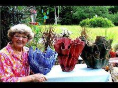 Portland Cement Red Sand Draped Flower Pots In Ga. Portland Cement Red Sand Draped Flower Pots In Ga. Cement Art, Concrete Cement, Concrete Crafts, Concrete Projects, Cement Flower Pots, Diy Concrete Planters, Concrete Garden, Flower Vases, Unique Garden