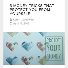 Three money tricks that protect you from yourself  Click here.  https://due.com/blog/3-money-tricks-that-protect-you-from-yourself/