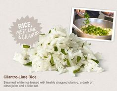 Cilantro Lime Rice from Chipolte - I'm going to have to try this since my husband LOVES their rice!!!