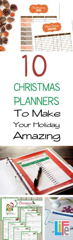 Simplify Christmas with these 10 great planner options.  From  gift lists, and budgets to the food for which party, you'll get organized and ENJOY the Christmas season more!
