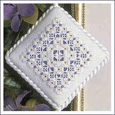 """Got everything but the S. J. Designs 2mm white beads and maybe the 3"""" x 3"""" 32-ct Antique White Belfast Linen"""
