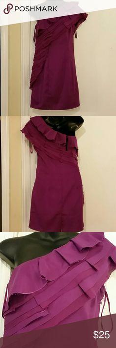 ASOS dress A fuchsia color one shoulder Asos mini dress. ASOS Dresses One Shoulder