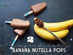 2 Ingredient Banana Nutella Pops from PB&J Eats