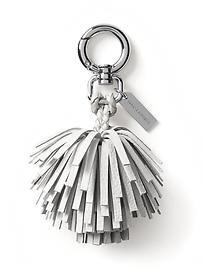 Banana Republic Tassel Pom Keychain Size One Size - White Leather Gifts, Leather Tassel, Leather Craft, Soft Leather, Tassel Keychain, Leather Keychain, Leather Projects, Gifts For Mum, Key Fobs