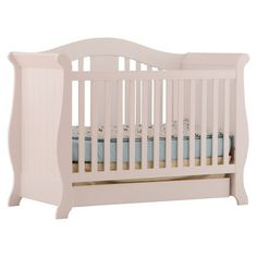 Stork Craft Vittoria 3-in-1 Fixed Side Convertible Crib for Kitty