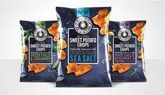 Red Rock Deli Sweet Potato Crisps — The Dieline - Branding & Packaging Design Designed by AKA Brand Design