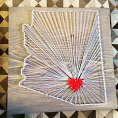 Arizona state string art - Order from KiwiStrings on Etsy! ( www.KiwiStrings.etsy.com )