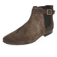 0e6324ae50 Brown suede Chelsea boots Brown Suede Chelsea Boots, Suede Boots, Rock  Boots, Brogues