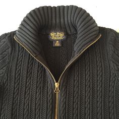 Polo Jeans black sweater Full zip pocketed corded sweater size medium fits more like a small. Polo by Ralph Lauren Sweaters Cowl & Turtlenecks