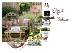 """""""My Elegant Barbecue"""" by betty-powell ❤ liked on Polyvore featuring interior, interiors, interior design, home, home decor, interior decorating, Aynsley, Uniflame, Catalina and vintage"""