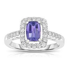 3 Stone Diamond Ring, Wedding Jewelry, Wedding Rings, Purple Sapphire, Diamond Alternatives, Jewelry Design, Designer Jewelry, Sapphire Jewelry, Engagement Ring Styles