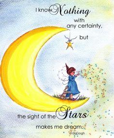i imagine she makes the stars twinkle