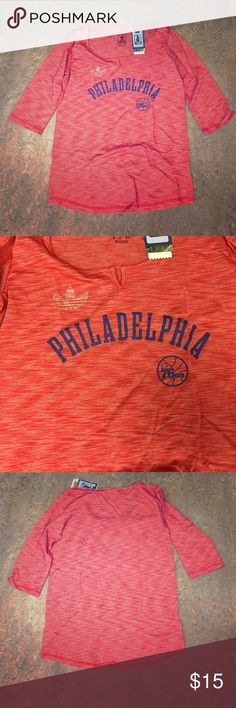 Philadelphia 76ers Sixers Adidas Women's Shirt XL Brand new with tags officially licensed Philadelphia 76ers adidas women's 3/4 sleeve shirt size XL. 55% cotton 45% polyester adidas Tops
