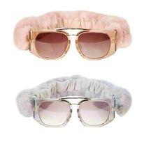 Linda Farrow Fur Wire Sunglasses