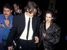 Johnny Depp and Winona Ryder, 1990. She was so lucky to have him. Tbh,she doesn't deserve it. However I've heard she stood by him in the Ambitch situation, so thank you! Winona.❤️ (and of course Vanessa who shall always be my favorite ❤️)