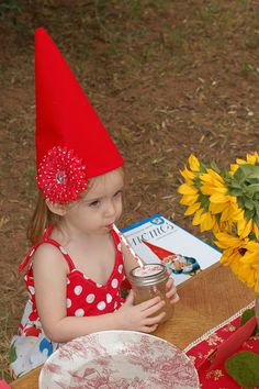 DIY Project: Felt Gnome Hats | TikkiDo.com. I've got to make these for dress up whenever we have kids!
