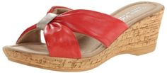 Bella Vita Made in Italy Women's Perfetto Wedge Sandal,Red Leather,6 W US Bella Vita http://www.amazon.com/dp/B00EL46BX6/ref=cm_sw_r_pi_dp_URIcub0TFB7Z9