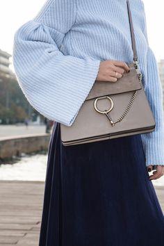 Chloe Faye bag and bell sleeves