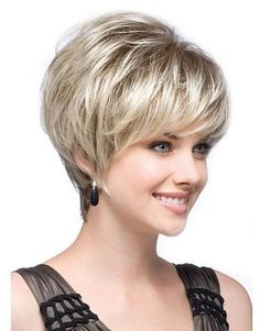Dressing yourself with our designer short wigs and make you look like stylish and fashion. Short wigs online shopping is your best choice. These short wigs are ideal for looking chic and feeling cool. Hair Cuts For Over 50, Short Hair Cuts For Women, Short Hairstyles For Women, Wig Hairstyles, Hairstyles 2016, Stacked Hairstyles, Wedding Hairstyles, Hairstyle Images, Hairstyles Pictures