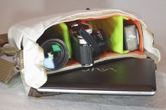 cool bag to fit in dslr camera and laptop