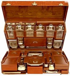 Fitted personal grooming and toiletries travel case. Absolutely stunning.