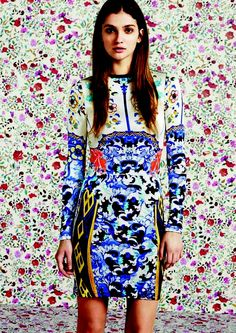 My Style Beholder / MARY KATRANTZOU FOR TOPSHOP  I want to wear this now with yellow kitten-heeled sandals and HUGE sunnies.   