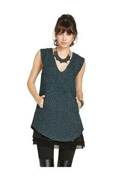 Bcbgeneration Tweed V-Neck Dress Sage