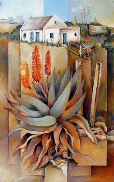 Artwork of Peter Wooldridge exhibited at Robertson Art Gallery. Original art of more than 60 top South African Artists - Since Tree Artwork, Floral Drawing, South African Artists, Pencil Painting, Landscape Artwork, Garden Crafts, Botanical Prints, Beautiful Paintings, Painting Inspiration