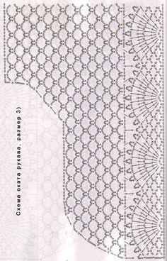 Схема оката рукава, размер 3