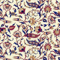 Rossi Florentine Print - Arabesque in Blue & Burgundy