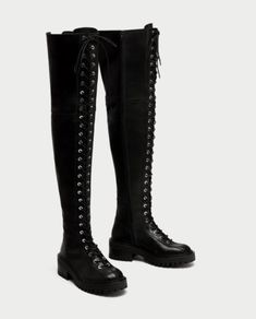 74ab2126697 ZARA-OVER-THE-KNEE-LACE-UP-BLACK-LEATHER-BOOTS-FLAT-TRACK-SOLE-UK-7-REF-7053-201.  Hedgehoglet · fashion · Monsoon Embroidered Suit Jacket Size 8 Black And ...