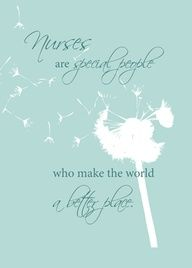 Nurse Dandelion - Send a card to a nurse on Nurses Day. Show your appreciation and thanks.  Nurses Day - May 6