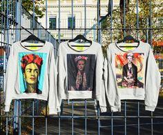 #frida #fridakahlo #sweater #limited #szputnyikshop Unique Vintage, The Past, Brand New, Sweatshirts, Cats, Prints, Sweaters, Collection, Frida Kahlo