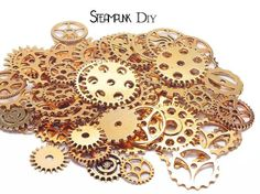 Mechanical Gears Metal Accessories Steampunk DIY 50g lot